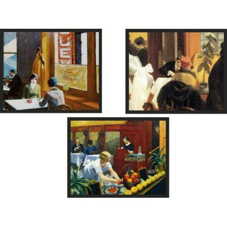 SET of 3 Rare Edward Hopper Framed Prints. Last remaining for sale. Check our listing for each image framed. 1.25
