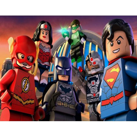 Lego Justice League  Cake Topper Edible Frosting Image 1/4 Sheet](Justice League Cake)