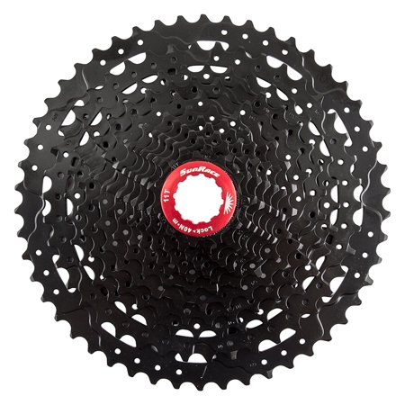 Sunrace CS-MZ80 12-Speed Wide Range Steel Mountain Cassette Black 11-50T