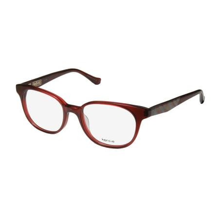 New Kensie Sunset Womens/Ladies Designer Full-Rim Bordeaux Gorgeous Authentic Womens Size Glasses Frame Demo Lenses 48-17-130 Spring Hinges Eyeglasses/Eye Glasses (Kinder Designer Glasses Frames)