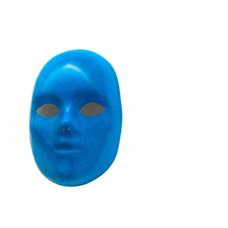Scary Carnival (LAMINATED POSTER Mask Blue Carnival Scary Face Art Poster Print 24 x)