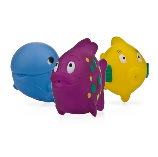 Nuby Fun Fish Bath Squirters, 3 Pack