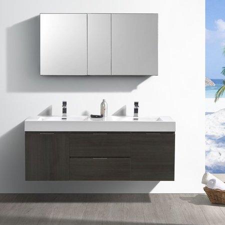 Fresca Senza Valencia 60 Wall Mounted Double Bathroom Vanity Set