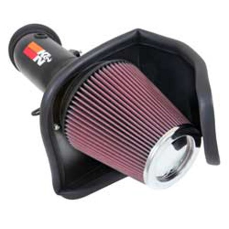 K & N Filters 69-2550TTK Cold Air Intake 69 Series Typhoon (TM) Wrinkle Black Aluminum Tube; Red Filter; With Heat Shield - image 1 of 1