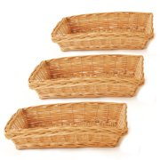 Wald 0313/13-sp3 Set Of 3 13'' Rect.  Willow Tray