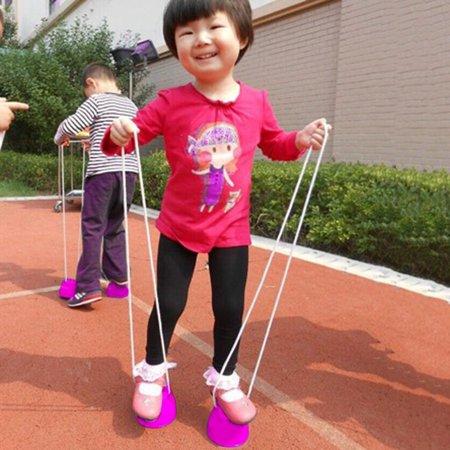 Children Kids Outdoor Fun Walk Stilt Jump Smile Face Balance Training Toy - image 3 of 9