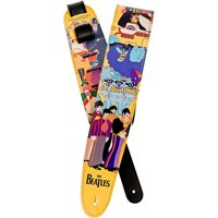 "D'Addario Planet Waves Vinyl 2.5"" Beatles Guitar Strap Yellow Submarine"
