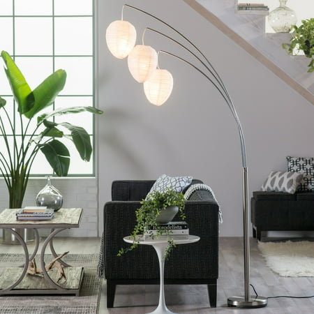 Adesso Belle Arc Floor Lamp](Rice Paper Lamp)