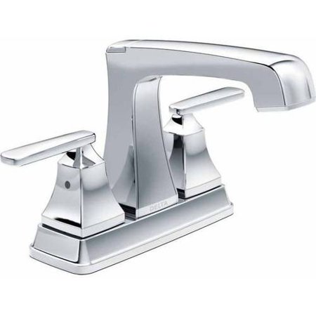 Sedona Wall Mount Lavatory - Delta Ashlyn Deck Mounted Centerset Lavatory Faucet with Diamond Seal Technology, Metal Lever Handles, and Metal Pop-Up, Available in Various Colors