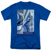 Mighty Morphin Power Rangers Blue Ranger Deco Mens Short Sleeve Shirt