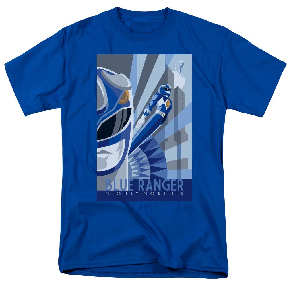 POWER RANGERS/BLUE RANGER DECO-S/S ADULT 18/1-ROYAL BLUE-3X