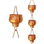 Monarch Pure Copper Hibiki Rain Chain, 8-1/2 Feet Length