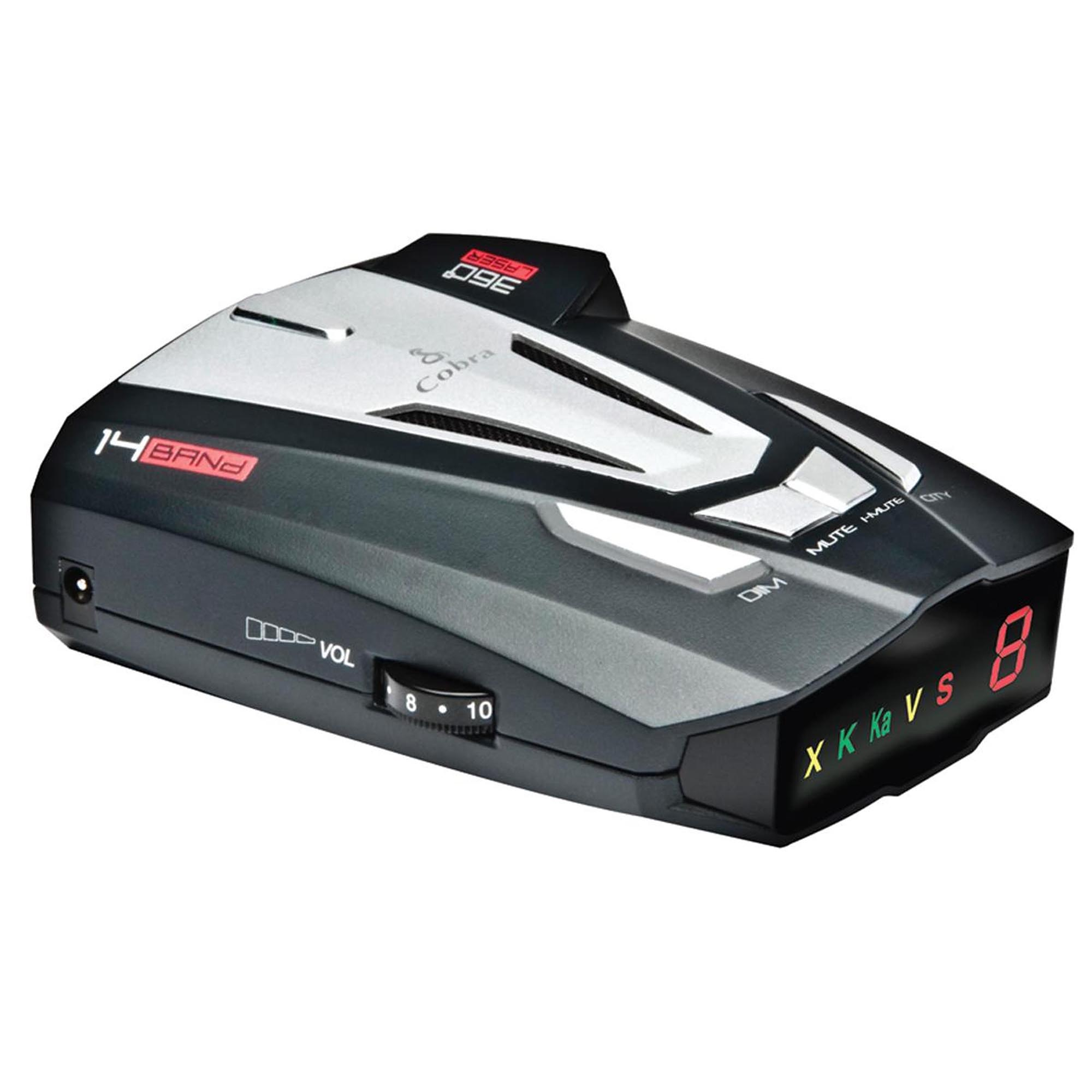 Cobra XRS-9370 High Performance Digital Radar/Laser Detector with UltraBright Data Display