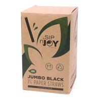 """Black Paper Jumbo Straw, 7.75"""", 400ct"""