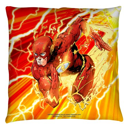 Justice League Throw Pillows : Justice League JLA Lightning Dash Throw Pillow White 14X14 - Walmart.com