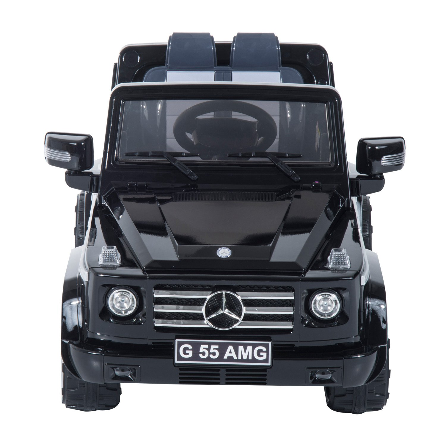 soozier aosom mercedes benz g55 kids 12v battery powered truck walmartcom