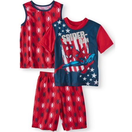 Spiderman Clothes For Boy (Boys' Spiderman 3 Piece Pajama Sleep Set (Little Boy & Big)