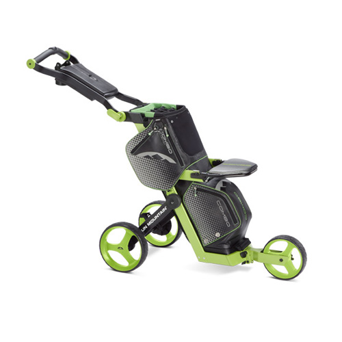 New Sun Mountain Combo Cart Push Cart - Black / Lime