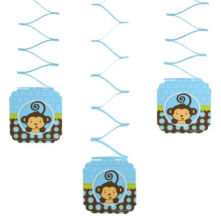 Monkey Boy - Hanging Party Decorations (Monkey Party Supplies)