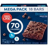 Fiber One 70 Calories Brownies, Chocolate Fudge, 18 Ct Mega Pack, 16 Oz