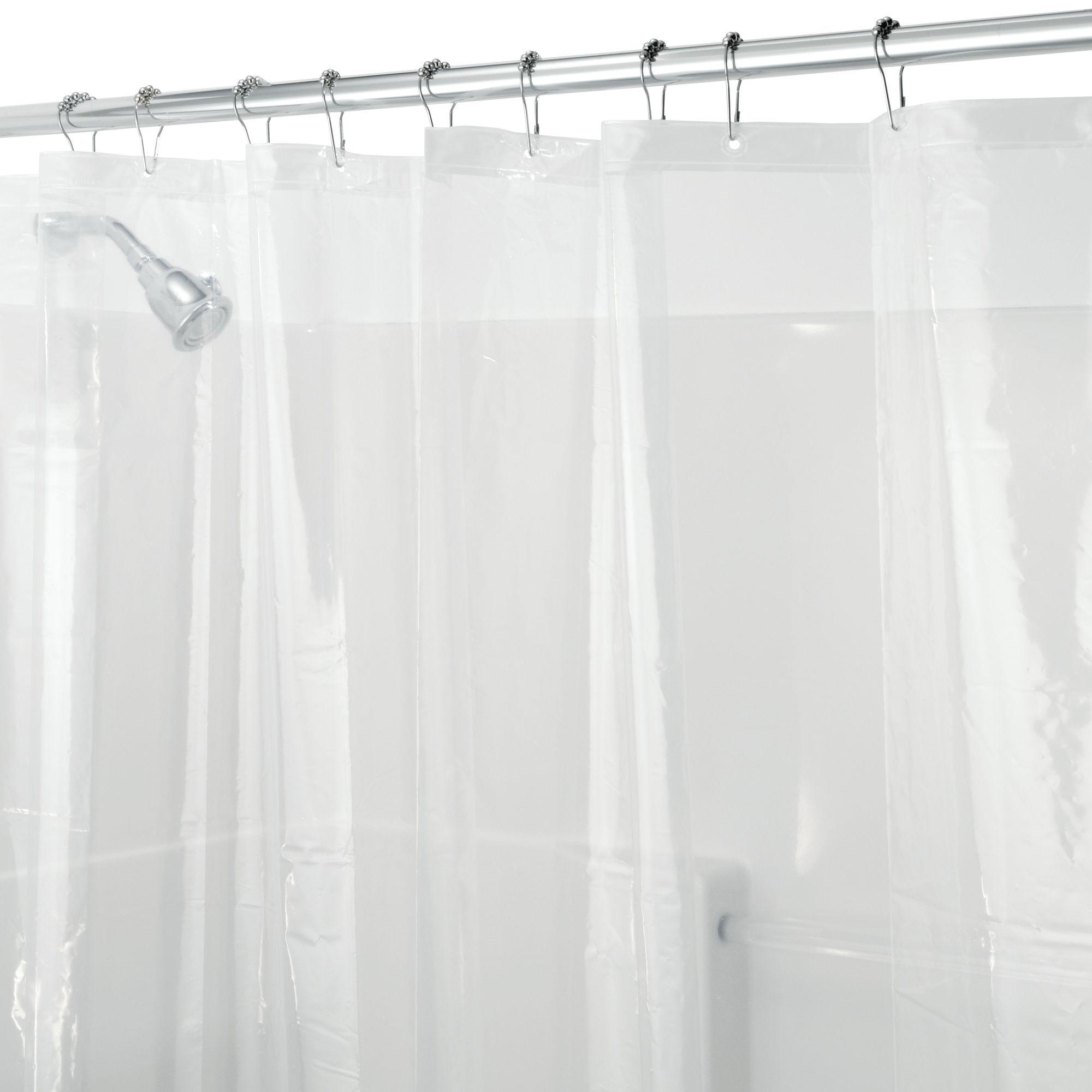 InterDesign PEVA 3 Gauge Shower Curtain Liner, Various Sizes & Colors