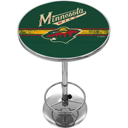 NHL Chrome Pub Table, Minnesota Wild by