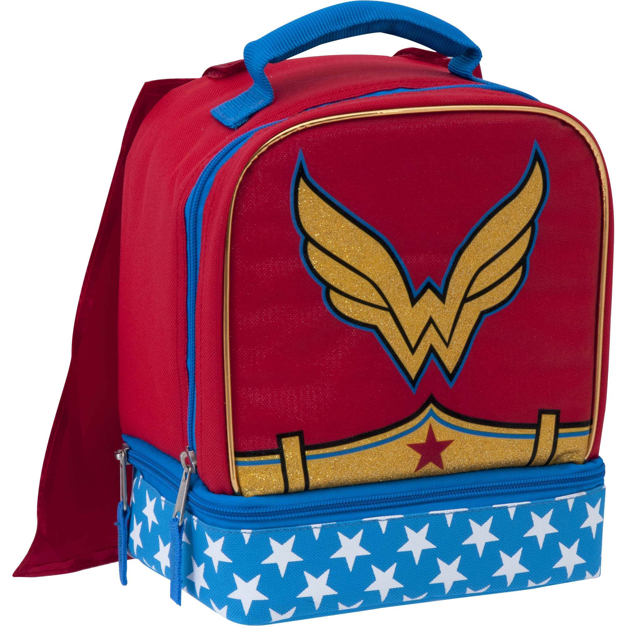 Warner Bro's Wonder Woman Insulated Dual Compartment Lunch Bag