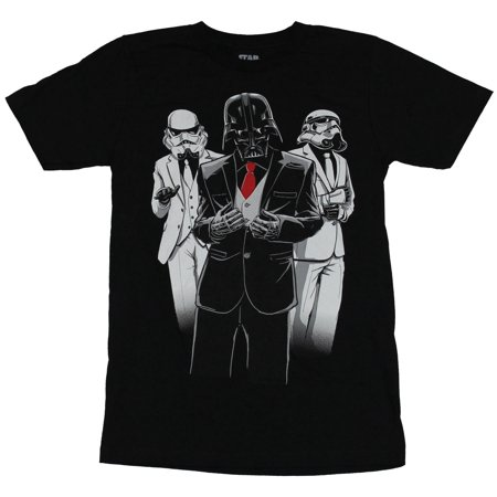 Star Wars Mens T-Shirt - Nice Suited Vader and Stormtroopers Image - Stormtrooper Suits For Sale