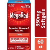 MegaRed Krill Oil Omega-3 Softgels, 350 mg, 60 ct