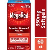 MegaRed Krill Oil Omega-3 Softgels, 350 mg, 60 ct
