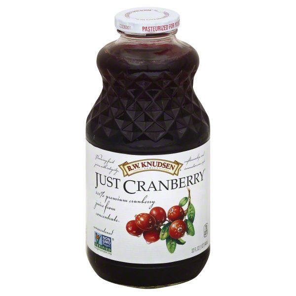 R.W. Knudsen Family Just Cranberry Juice, 32-Fluid Ounce