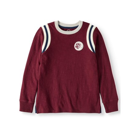 Wonder Nation Long Sleeve Varsity Crew T-Shirt (Little Boys, Big Boys, & Husky) ()