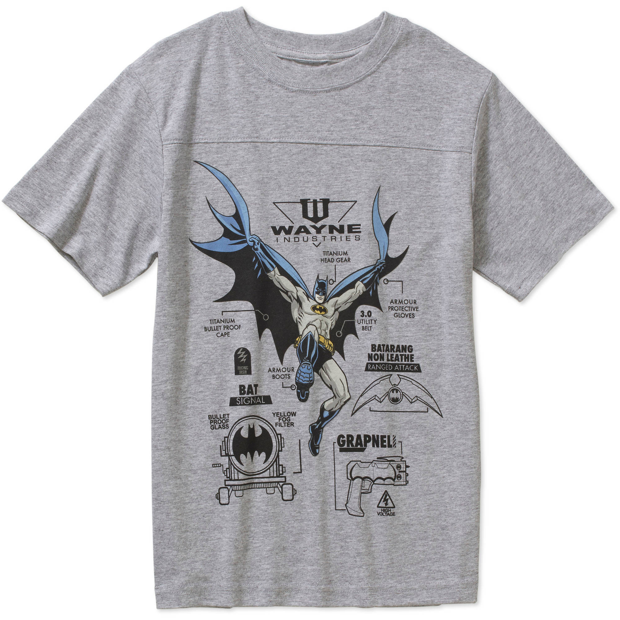 DC Comics Batman Info Graphic Boys' Graphic Tee by