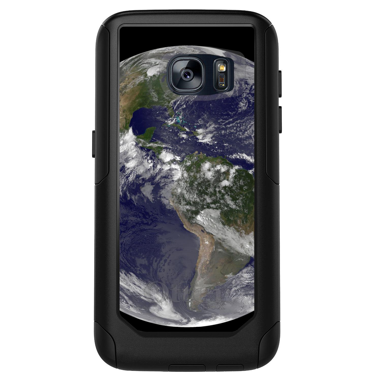 DistinctInk™ Custom Black OtterBox Commuter Series Case for Samsung Galaxy S7 - Earth Space Western Hemisphere