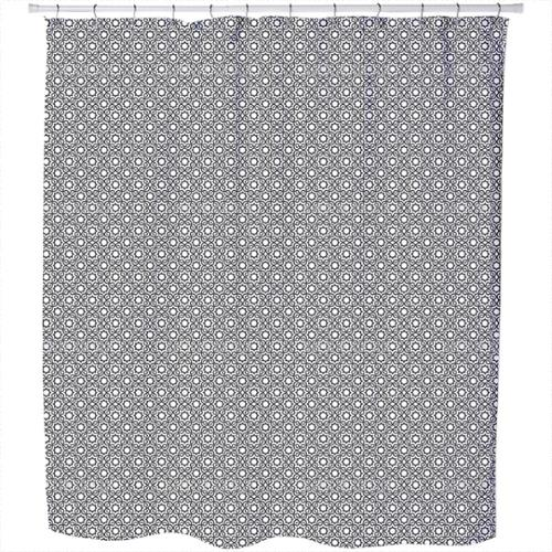 Uneekee Islamic Black and White Shower Curtain