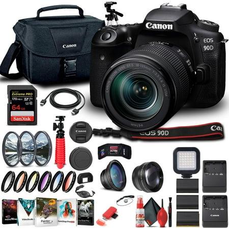 Canon EOS 90D DSLR Camera W/ 18-135mm Lens 3616C016 - Advanced Bundle
