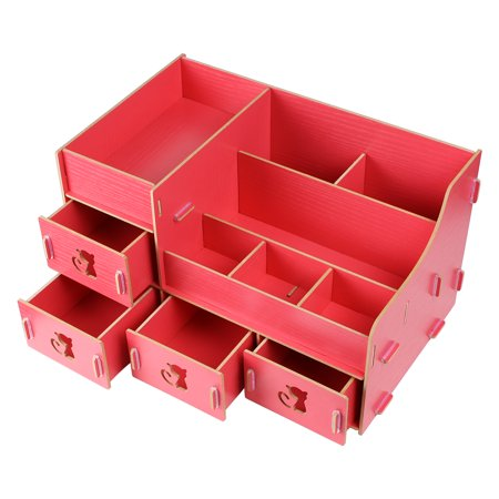 Cosmetic Organizer DIY Makeup Box Wooden Drawers Jewelry Storage ...