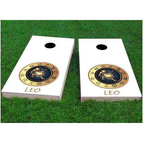 Custom Cornhole Boards Zodiac Leo Themed Cornhole Game (Set of 2) by Custom Cornhole Boards