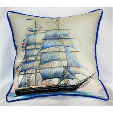 Betsy Drake ZP555 Whaling Ship Throw Pillow, 22 x 22 in. - image 1 de 1