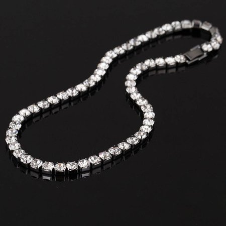 Fancyleo 1 Pcs Wedding Prom Bridal Bridesmaid Party Jewelry Rhinestone Choker Necklace