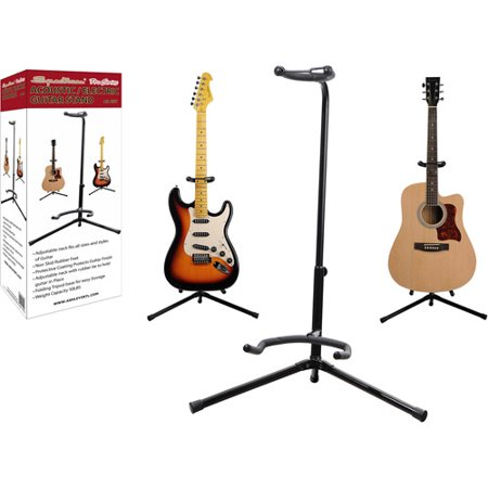 Spectrum Universal Guitar Stand with Gooseneck Feature and Non-Skid Rubber (Universal A-frame Guitar Stand)