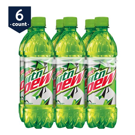 Diet Mountain Dew Diet Soda, 16.9 oz Bottles, 6 Count - Mountain Dew Bottle Sizes