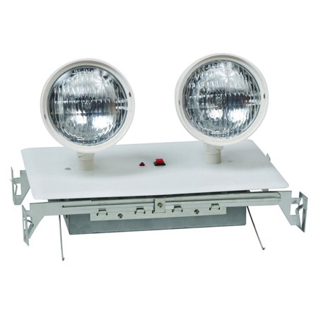 Recessed Twin Head Emergency Lighting Units White