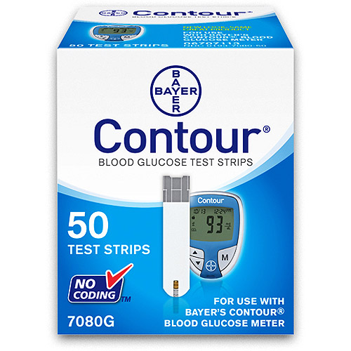 Bayer Contour Blood Glucose Test Strips, 50ct