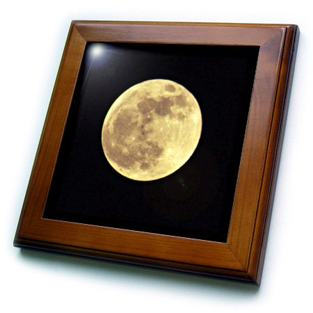 3dRose Full Moon Rising - Astronomy - Photography - Framed Tile, 6 by
