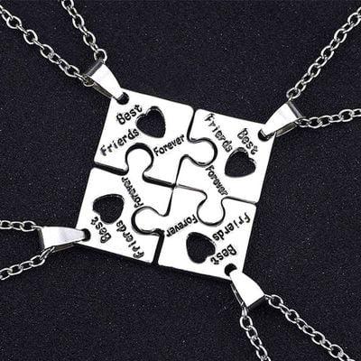 TURNTABLE LAB 4 Pcs Graduation Season Gift Best Friends Forever Friendship Chains Puzzle Chains Family Friends