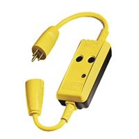 Hubbell Circuit Guard Gfci Line Cord, Manual, 15 Amps, 120 Volts, 18 In.