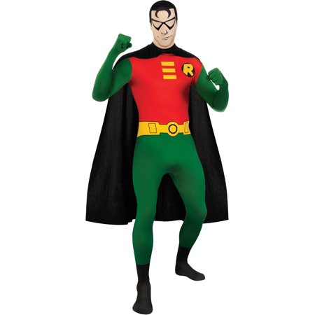 Adult Batman Robin Second Skin Professional Quality Full Body Jumpsuit](Batman Wholesale)