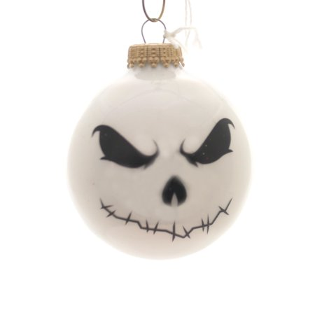 Holiday Ornaments HALLOWEEN SCARY FACES Glass Spooky for $<!---->