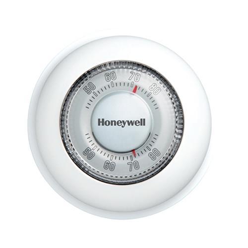 Honeywell Home/Bldg Center T87K1007 Round Heat Only Therm...